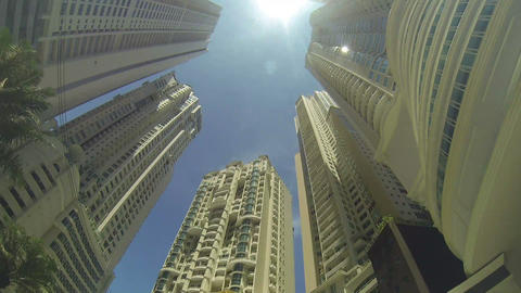 Tall buildings in a big city Stock Video Footage
