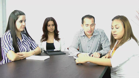 Business meeting; video conference Stock Video Footage