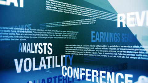Earnings Season Related Terms Stock Video Footage