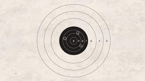 shooting target Stock Video Footage