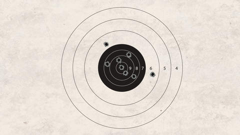 Shooting Target stock footage