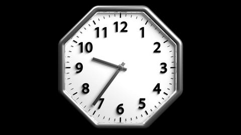 3D Clock 02 stock footage