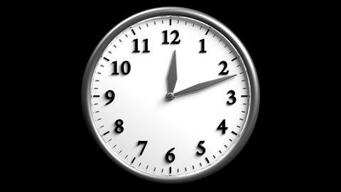 3D Clock 04 Stock Video Footage