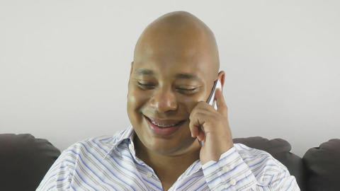 Businessman using a mobile phone at home Stock Video Footage