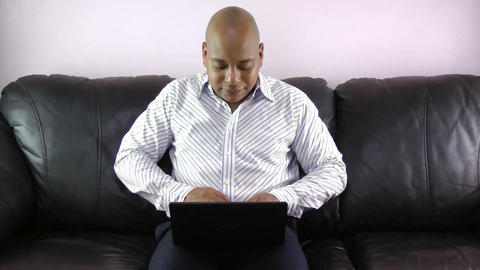 Businessman With Laptop Stock Video Footage