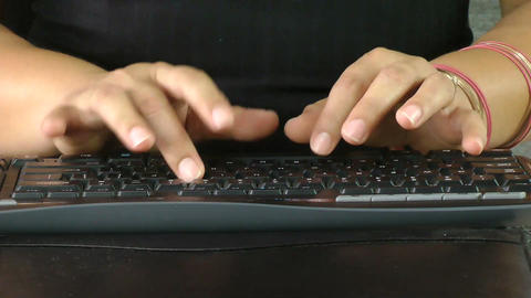 Business woman hands typing Stock Video Footage