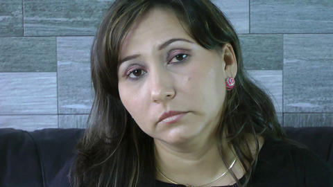 Sad woman in depression Stock Video Footage