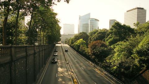 Cars moving through tunnel in Brussels, Belgium at Stock Video Footage
