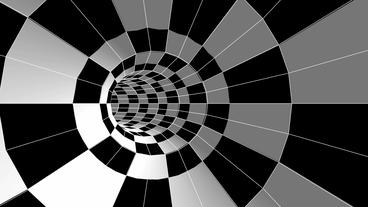 tralver in square mosaics time tunnel hole Stock Video Footage