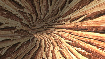 moving in wood text tunnel hole Animation