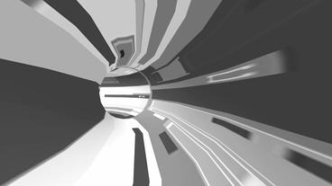science tech electronic tunnel pipeline,virtual lines scenes Stock Video Footage