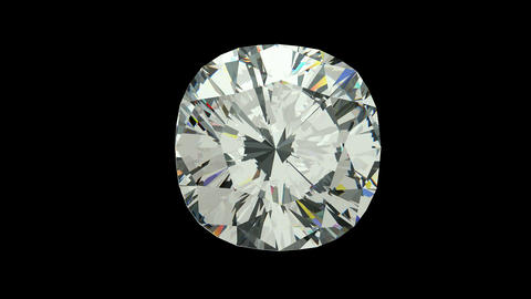 Cushion cut diamond Animation