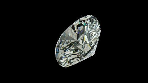 Cushion cut diamond Stock Video Footage
