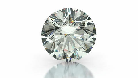Round cut diamond Animation
