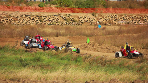 Autocross on Little Buggy Stock Video Footage