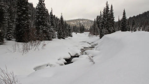 Winter river Footage