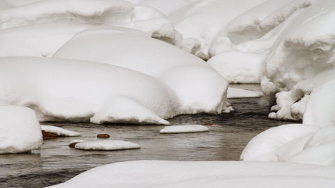 Winter river Stock Video Footage