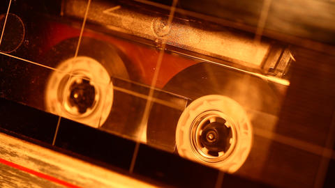 Audio cassette Stock Video Footage
