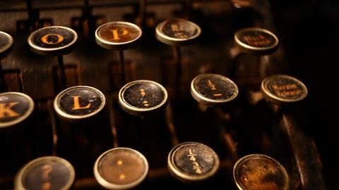 Old typewriter Stock Video Footage