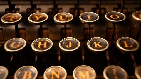 Old typewriter Footage