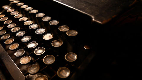 Old typewriter Stock Video Footage
