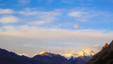 Sunset in the mountains.Time Lapse Stock Video Footage