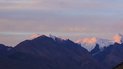 Sunset in the mountains.Time Lapse Footage