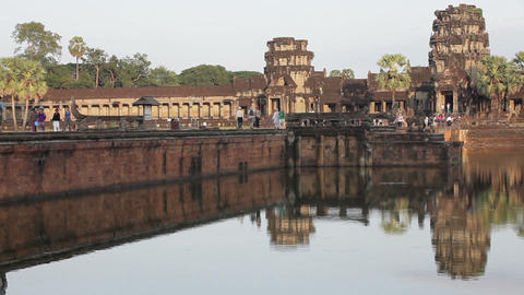 Angkor Wat time lapse Stock Video Footage