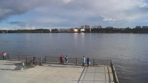 City of Blagoveshchensk Embankment Footage