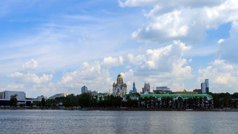 Church on Blood. Russia, Ekaterinburg Stock Video Footage