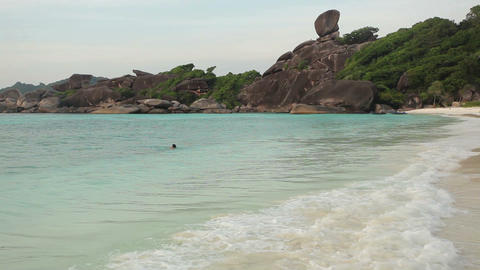 Tropical beach scenery Stock Video Footage