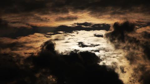 dark sky flameSun behind dark clouds Footage