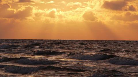 Orange sky over the sea Stock Video Footage
