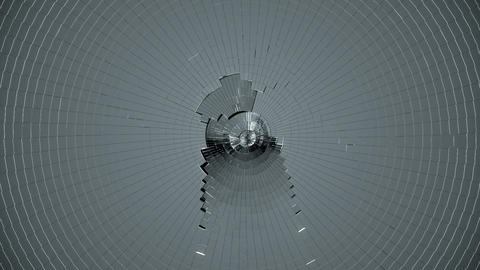 Shattered glass with slow motion. Alpha is include Stock Video Footage