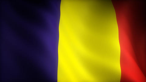 Flag Of Romania stock footage