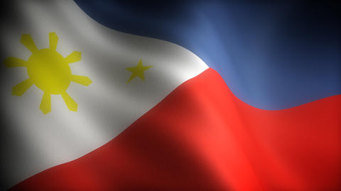 Flag of Philippines Stock Video Footage