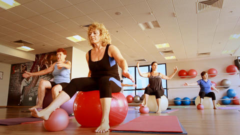 Beautiful Sexy Girls Working Out Gym Club As Part stock footage