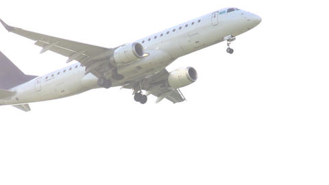 Airliner taking off Stock Video Footage