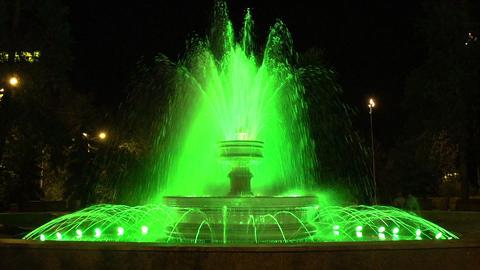 Night fountain HD Stock Video Footage