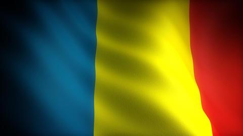 Flag of Andorra Stock Video Footage