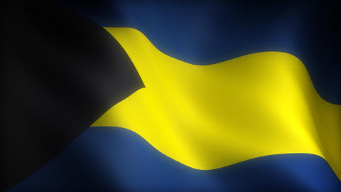 Flag of Bahamas Stock Video Footage