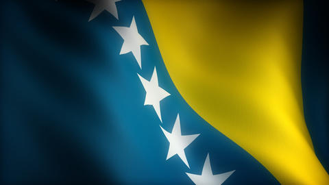 Flag of Bosnia-Herzegovina Animation