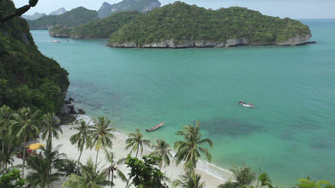 Tropical beach in Thailand Stock Video Footage