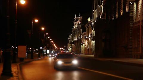 Night quay Stock Video Footage