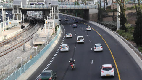 Driving on the highway Stock Video Footage