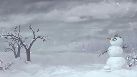 Christmas snowman Stock Video Footage