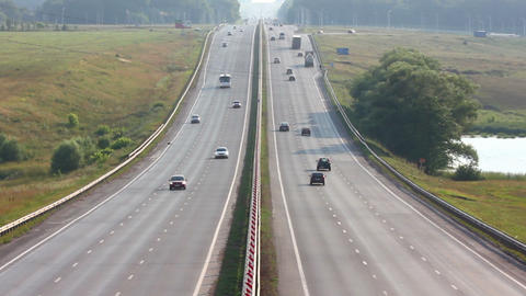 cars traveling on the highway - timelapse Stock Video Footage