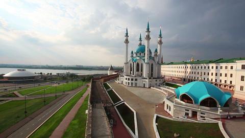 kul sharif mosque in kazan kremlin russia Stock Video Footage