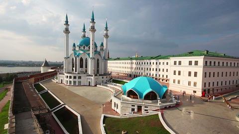 kul sharif mosque in kazan kremlin russia - timela Stock Video Footage
