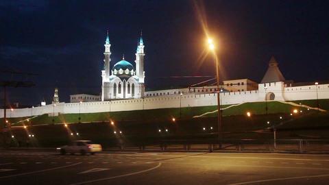 kazan kremlin and kul sharif mosque in russia at n Stock Video Footage